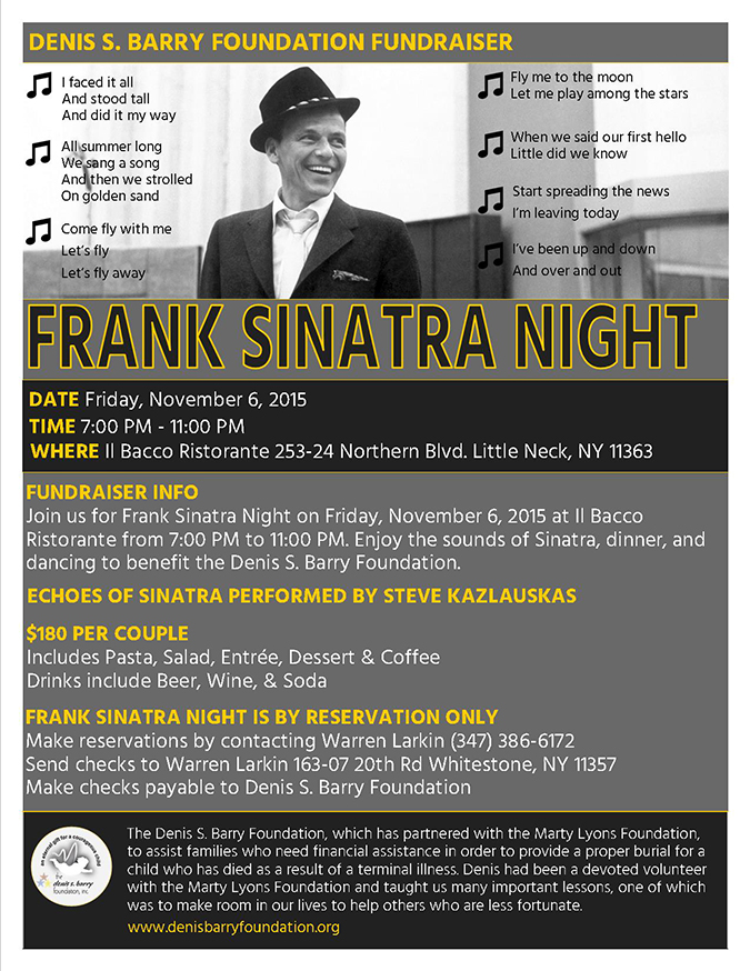 Frank Sinatra Night on Friday November 6, 2015